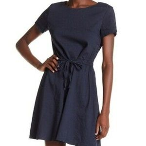 Theory Vormond Crunch 2 Dress Size 8 Blue Linen